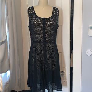 Allsaints Blue Eyelet Dress